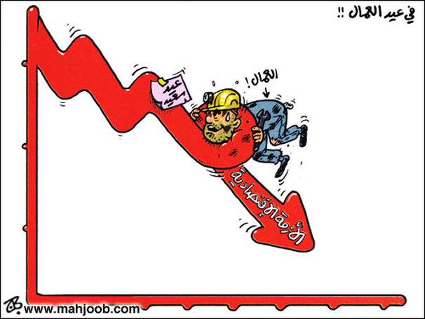 نتيجة بحث الصور عن كاريكاتير ابو محجوب عيد العمال